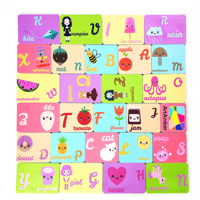Baby EVA foam puzzle bath toy for children with alphabet animal fruit cartoon