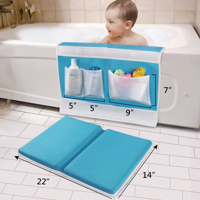 2020 custom design baby bath kneeler pad with elbow pad set