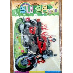 Stylish pop up sticker motorcycle 3d stickers for home decoration