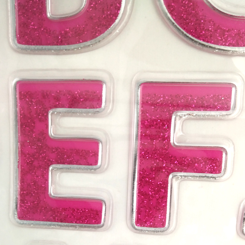 3d Puffy Embroidery Letters Sticker For Kids