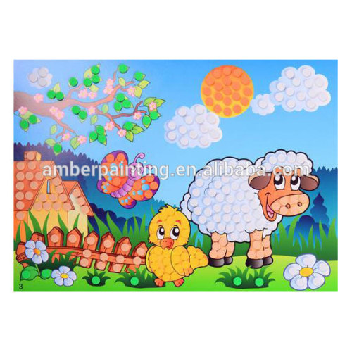 Eco-friendly cartoon foam mosaic craft for kids