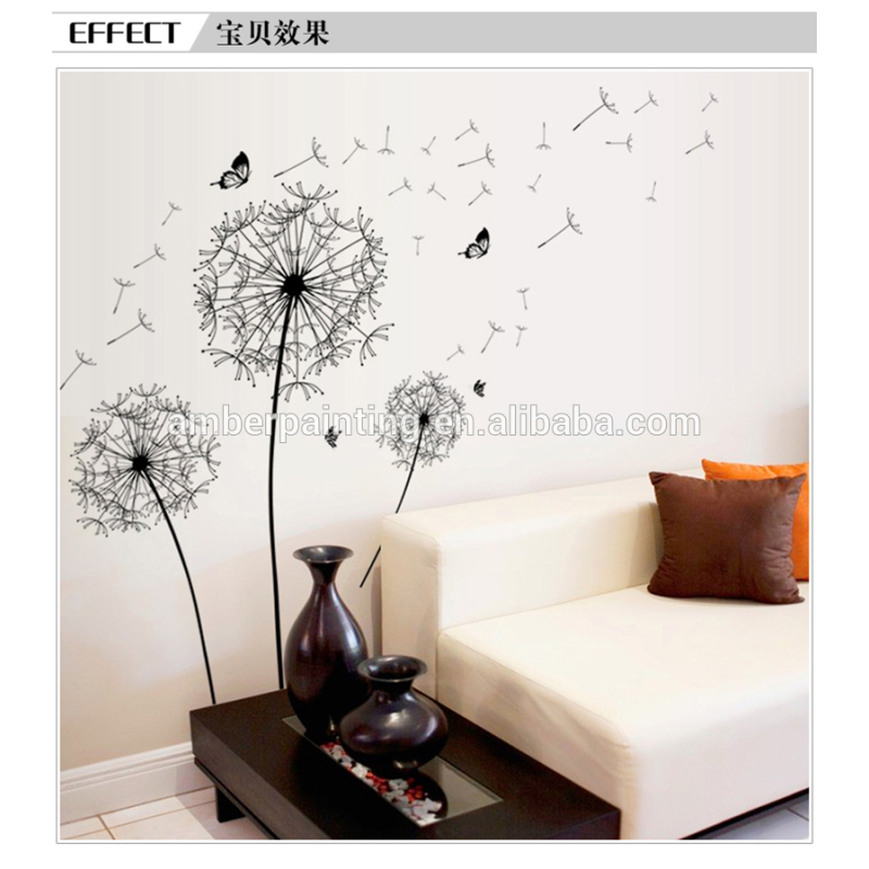 Peel and stick garage wall decals sticker dandelion love in stock