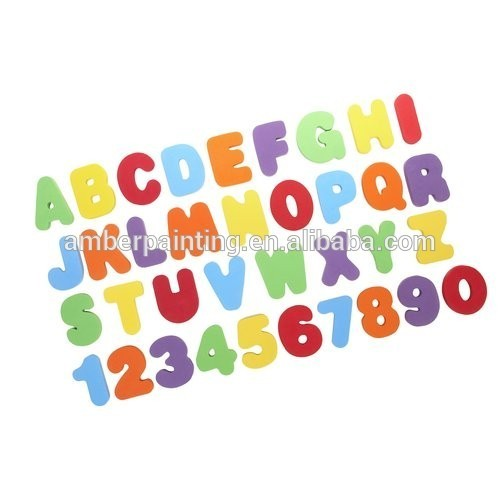 Hot Sell Letters And Numbers EVA Foam Education Bath Toys
