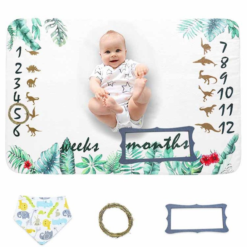 Baby Monthly Milestone Blanket for Boy or Girl Unisex for Pictures  Personalized Shower Gifts New Moms Track Age & Growth