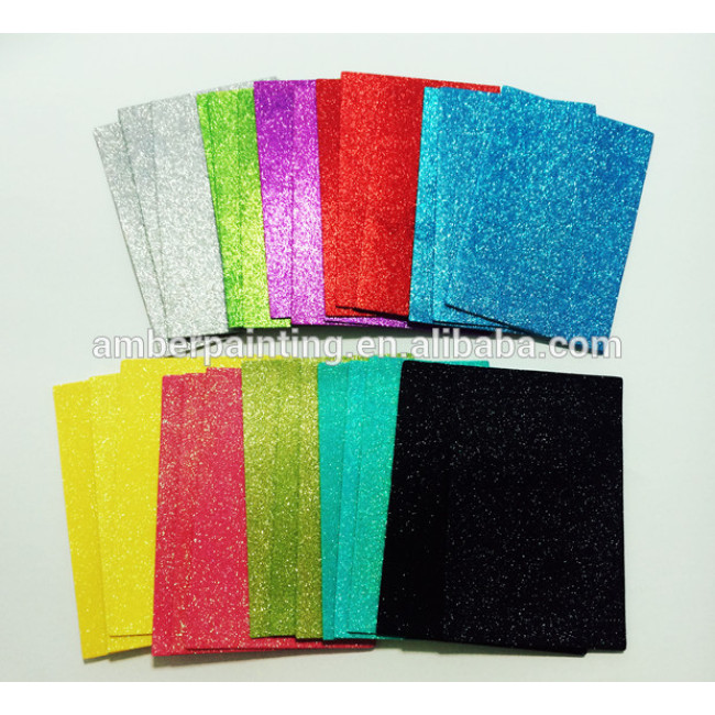 Self adhesive sticky back craft eva glitter foam sheet