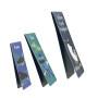 3pcs custom metal magnetic souvenir gift bookmark