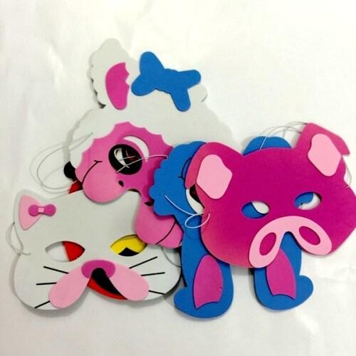 Non toxic custom animal shape kids cute party EVA foam mask