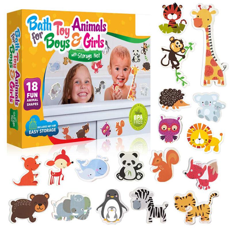 Baby floating safety EVA foam educational bath toy animal set for kids
