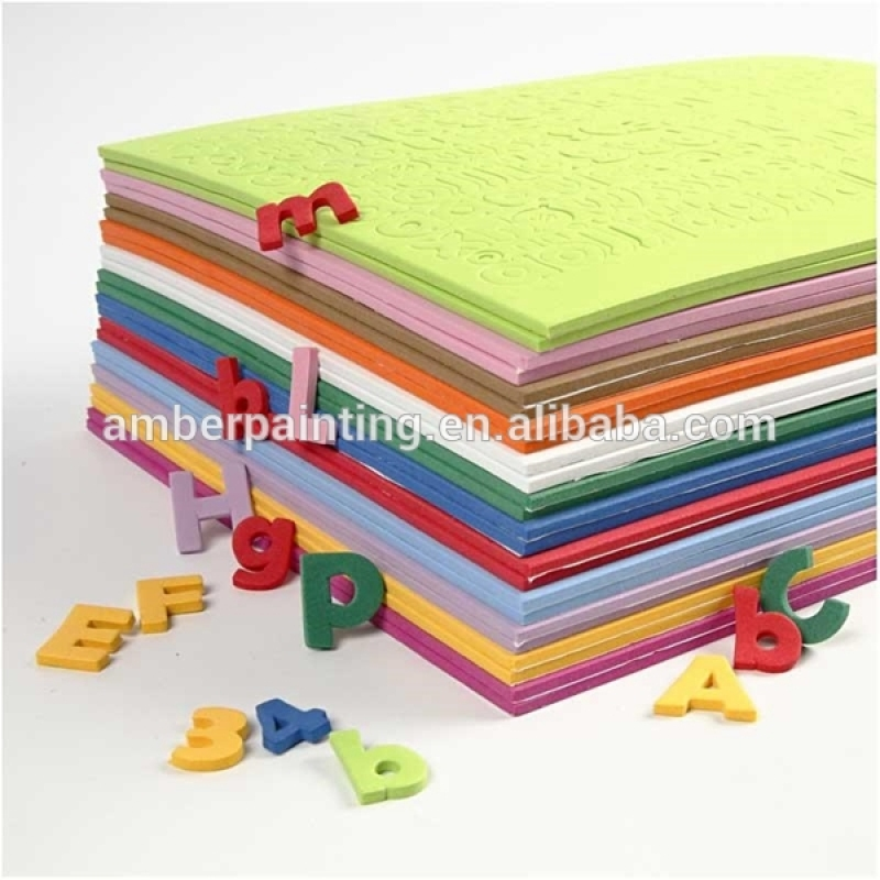 Non toxic material color custom eva foam sheet 7mm
