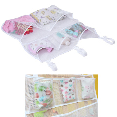 Sleeping Lamb Baby Nursery Organizer for Clothing Diapers Toys Hanging Storage bag 5 Pockets Bedside Caddy