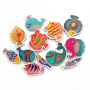 Sea fish EVA foam floating baby bath toy A313