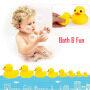 A313 fountain barney rubber duck bath toy