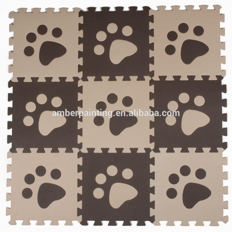 baby foam floor puzzle footprint mat ground card game play mat
