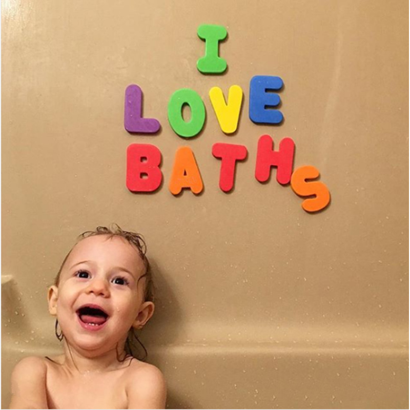 Baby Bathtub bath Toys 36 Bath Letters and Numbers eva Foam bathroom for kids