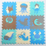 baby antislip toys eva plain sports mat educational Ocean foam puzzle mat