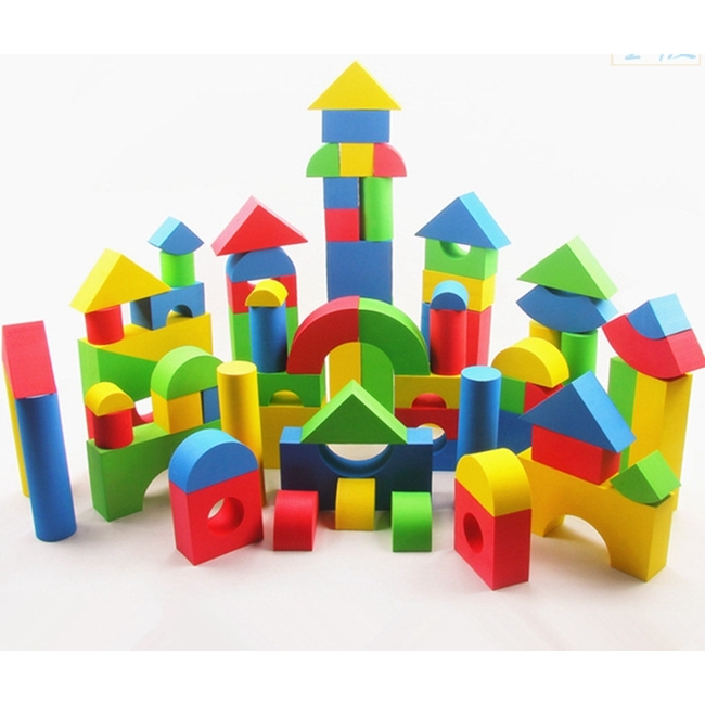 EVA Foam Colorful Building Blocks Kids Brick Toys