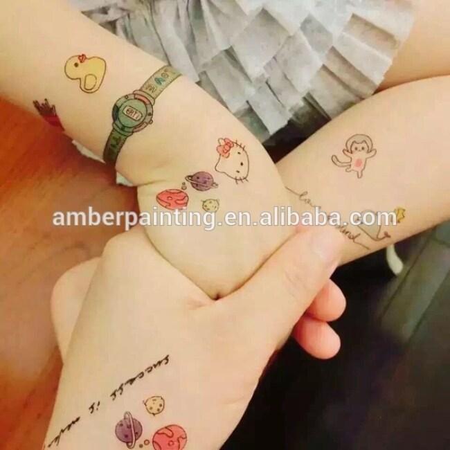 Cartoon Design Non-toxic Temporary Kids Sleeve Tattoos