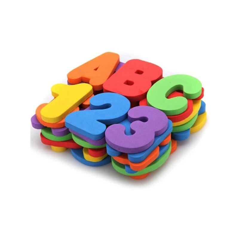 Custom shape number letter sea animal baby foam bath toys