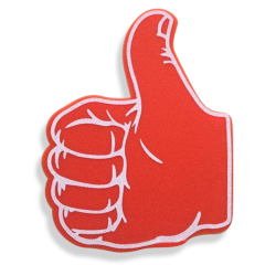 Wholesale EVA foam fingers victory cheering foam hand cute eva mini finger foam hand