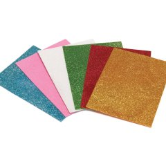Various colors glitter EVA foam sheet with adhesive backed