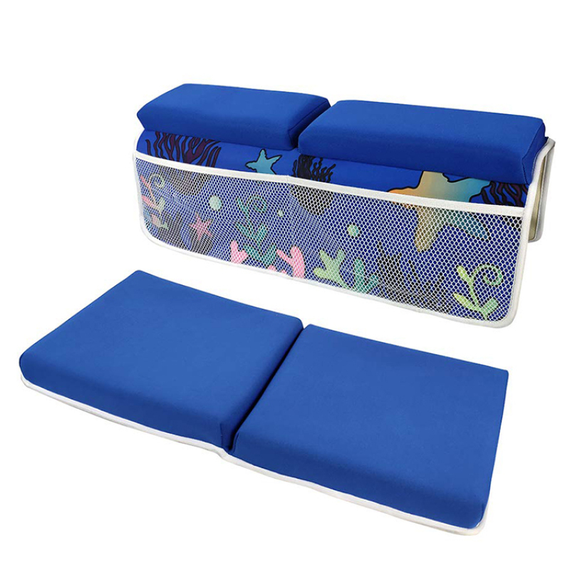 Neoprene bath kneeler and elbow rest pad,four large pockets, 6 or 8 suction cups ,thickened