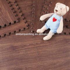 children eva foam wood grain floor game coating mat baby play mat gym