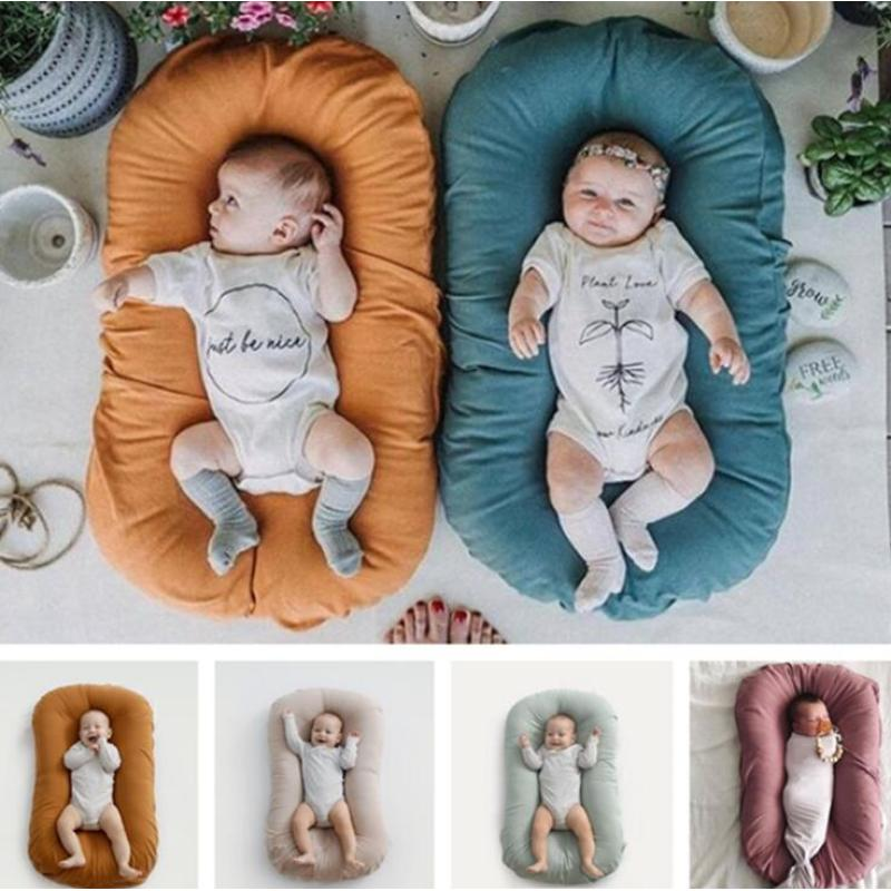 Wholesale customized high quality portable Infant Cribs baby nest set newborn organic cotton baby snuggle nest