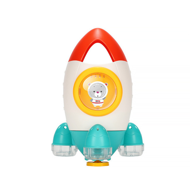 Wholesale bath tub toy boat spray shower bath toy kids  rocketship bath toy