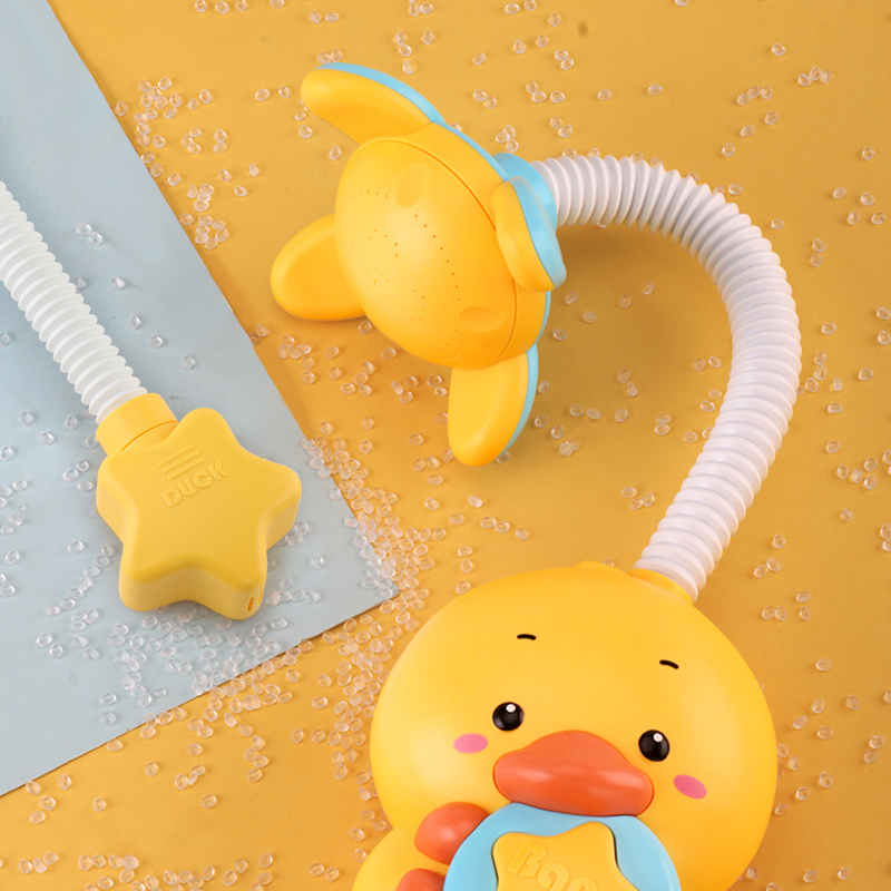 Custom animal bath yellow duck bath toys spray shower bath toy kids