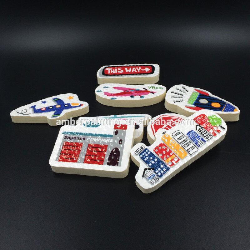Creative preschool baby bath toy traffic educational foam toy