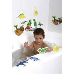 Custom design dinosaur baby tub town foam bath toys for kids baby bath learning baby bath toy organizer  learning toys for kids