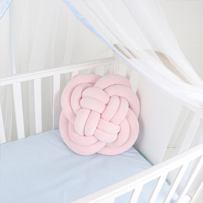 Ins explosive knotted braided cushion pure hand braided pattern cushion