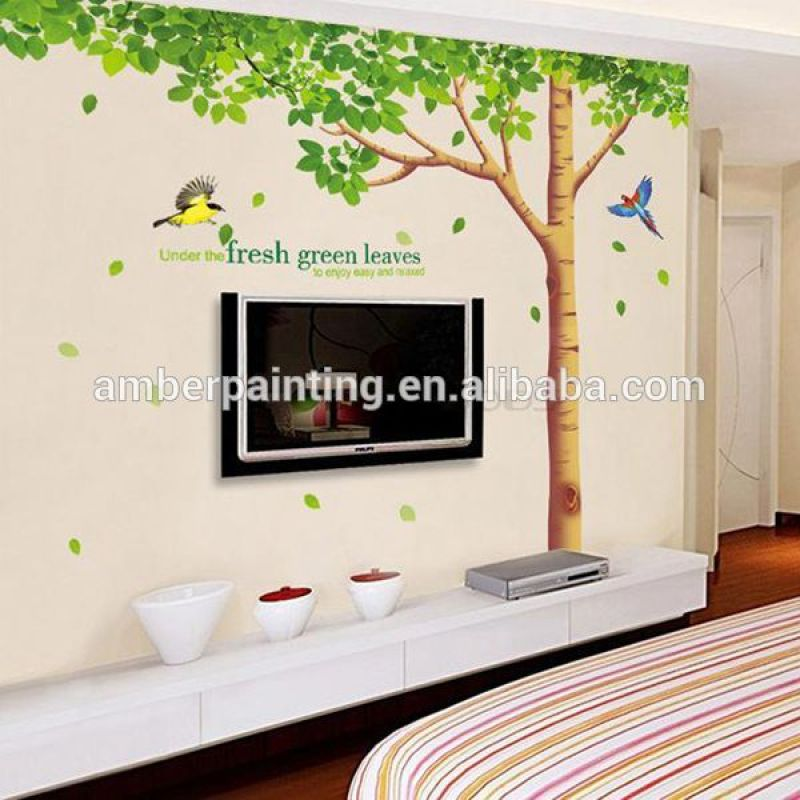 Custom adhesive 3d silver mirror sticker for wall decoration