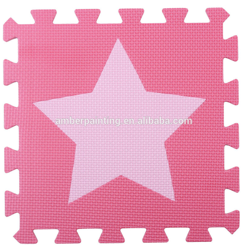 foam waterproof baby play puzzle mat floor star sport dance mat