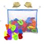 Educational eva alphabet foam tub town bath toy with toy organizer bath toys baby bath toy wall