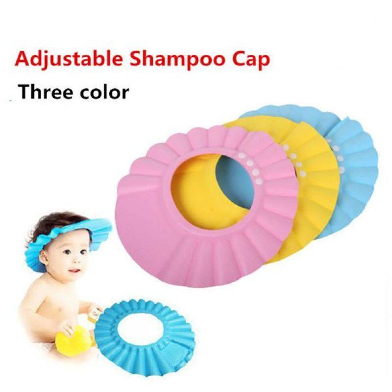 Eco friendly non toxic baby bath cap baby kids shower shampoo cap