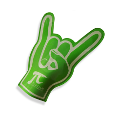 Wholesale new design light foam hand cheering finger