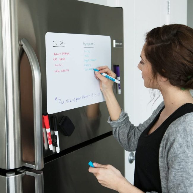Custom Magnetic Dry Erase soft Whiteboard Sheet for Kitchen Fridge