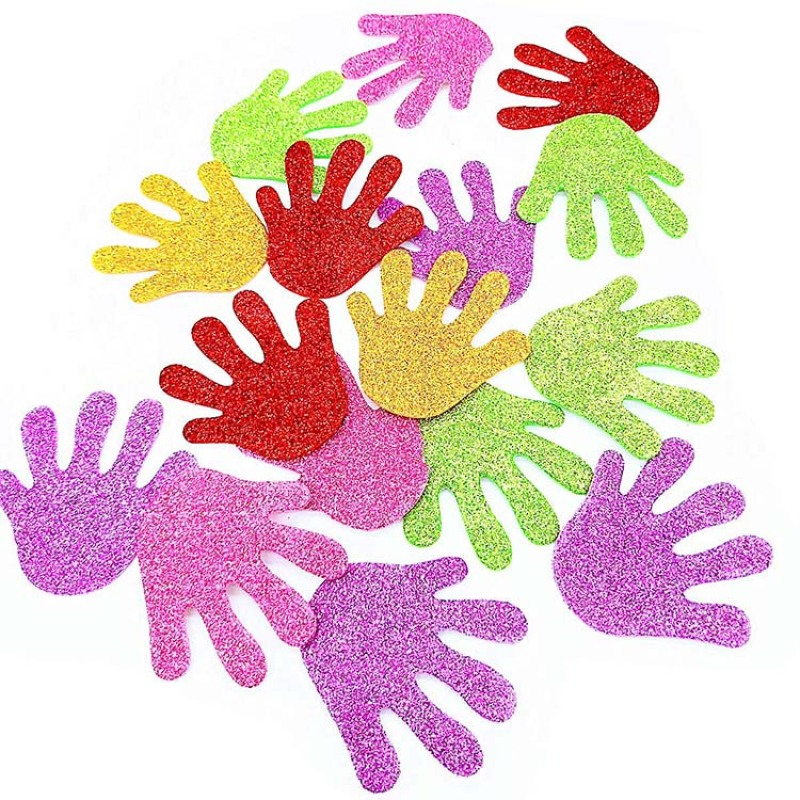 All kinds of shape EVA foam glitter/no glitter DIY sticker for kids