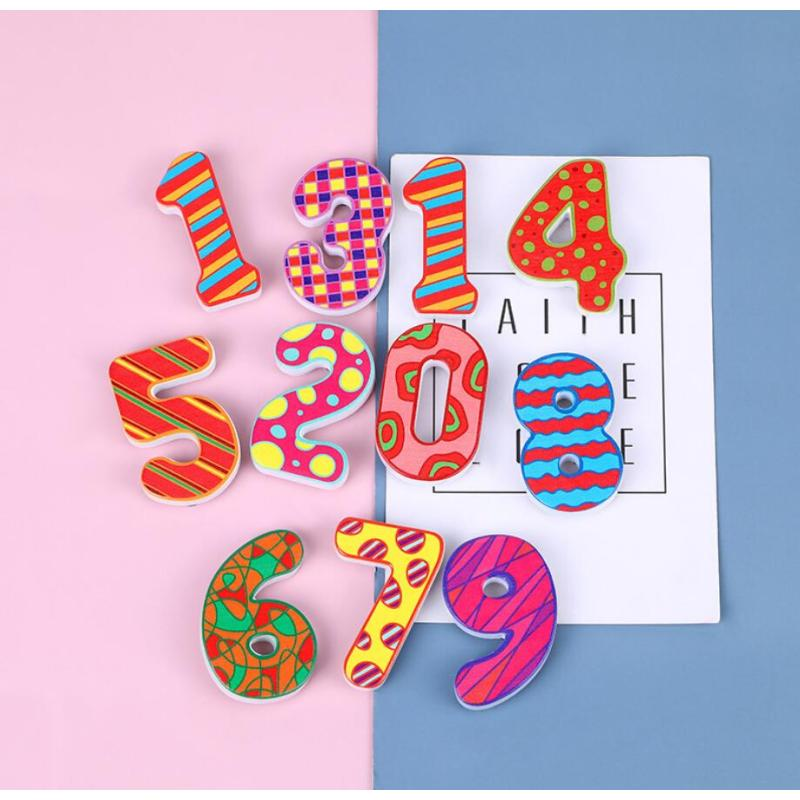 Custom EVA Foam Christmas Magnetic Alphabet ABC letters and numbers for Kids Toys Educational