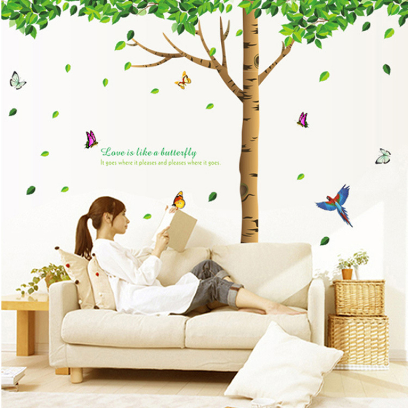 Hot sale large tree house stickers for living room wall decor