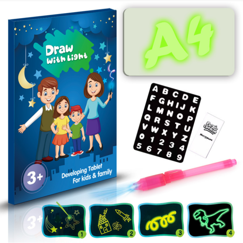 Customized drawing light board for kids    drawing light board