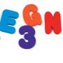 SuperSeptember EVA foam educational foam bath toy for kids