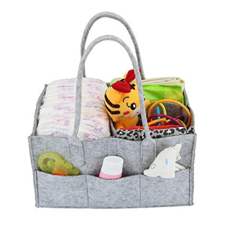 non-woven fabric diaper caddy and nursery organizer