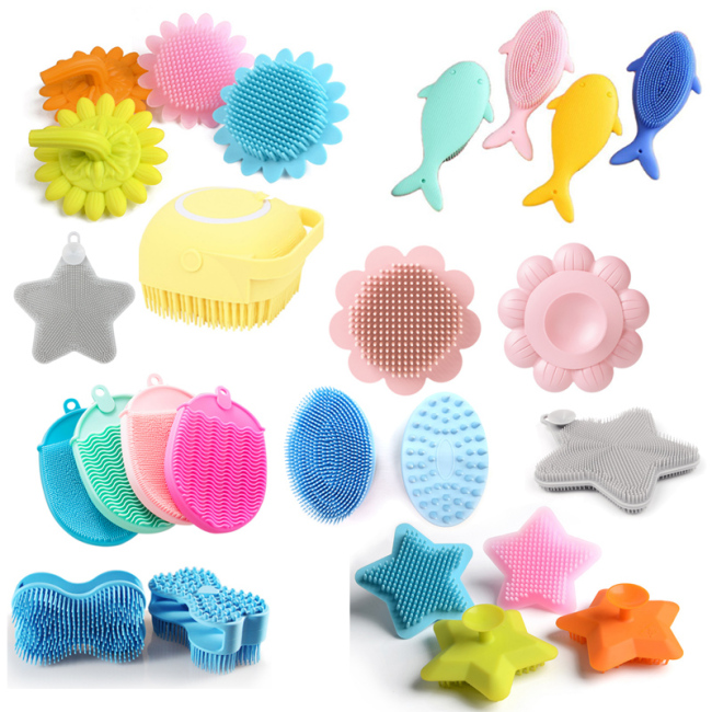 Silicone bath Hair  cleansing Brush for kids