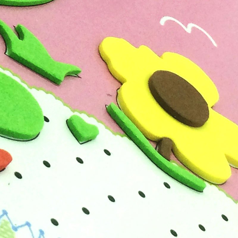diy eva foam art and craft sticker kit new educational toys for kids