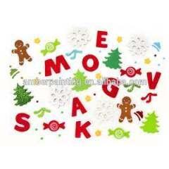 Custom made promotion glitter letter stickers foam alphabet sticker