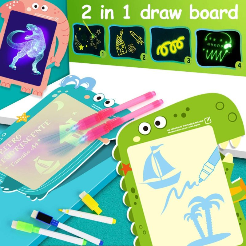 Wholesale Drawing Board Pad Tablet for Kids Painting Board Educational Toy Doodstage Light Drawing Fun Developing Toy