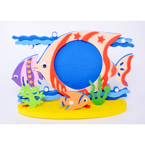 Custom DIY sea animal eva foam photo frame