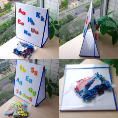 Educational small stand-able magnetic toy foldable whiteboard for kids magic  drawing board